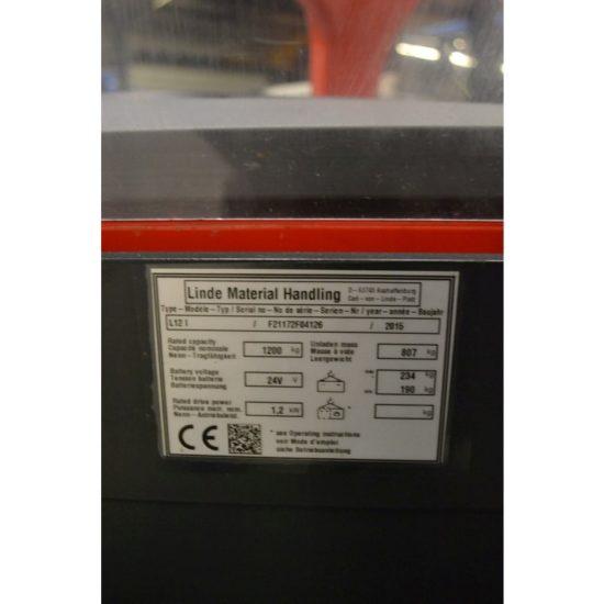 Електрически стакер Linde 1200kg