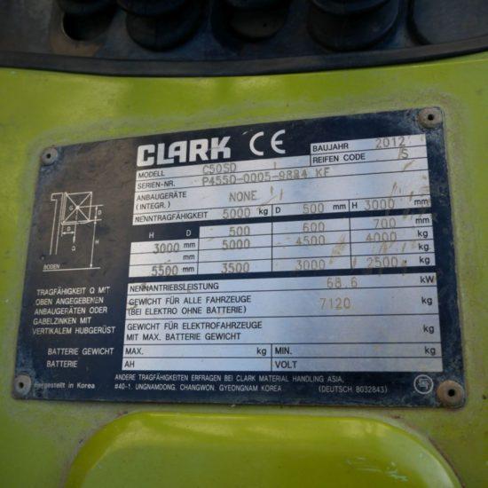 Дизелов мотокар Clark C50SD