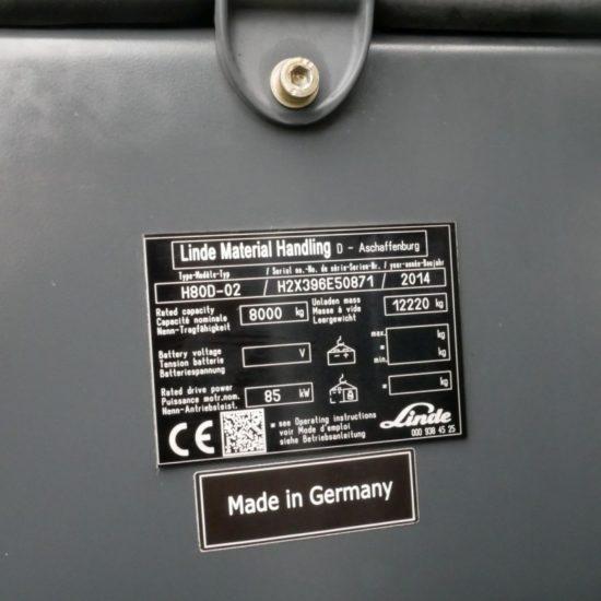 Дизелов мотокар Linde H80D 396 8000kg