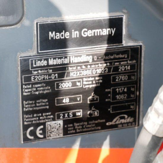 Електрокар Linde E20PH 386