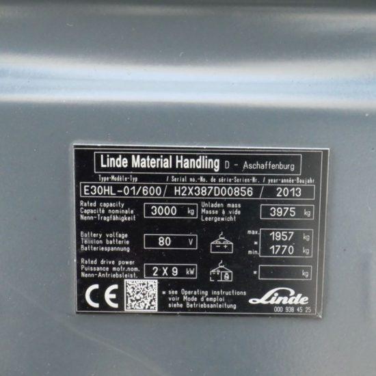Електрокар Linde E30-600HL 387