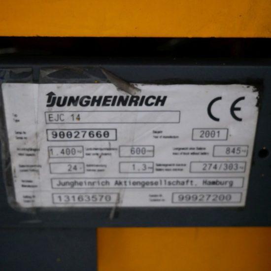 Електрически стакер Jungheinrich EJC14