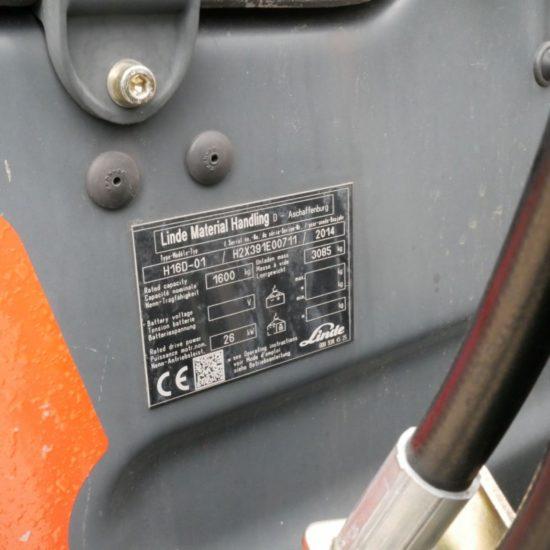 Дизелов мотокар Linde H16D-01 391 1600кг